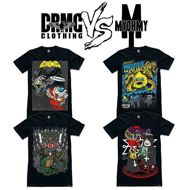 "✌ Pop Occulture  A closer look at our CRMC X MyOhMy Design Tees From top left; ""BatRen Vs SuperStimpy"" Tee ""Welease The Quacken"" Tee ""TMBMT"" Tee ""Occulture Time"" Tee Part of our upcoming CRMC vs Artists Collab Collection. Set to drop on the 22nd of March. #renandstimpy #rubberduck #kraken #cthulhu #ninjaturtles #teenagemutantninjaturtles #blackmetal #blackmetalninjaturtles #cartoons #cartoon #adventuretime #adventuretimefans #occulture #blackwear #comics #batman #superman #streetwear…"