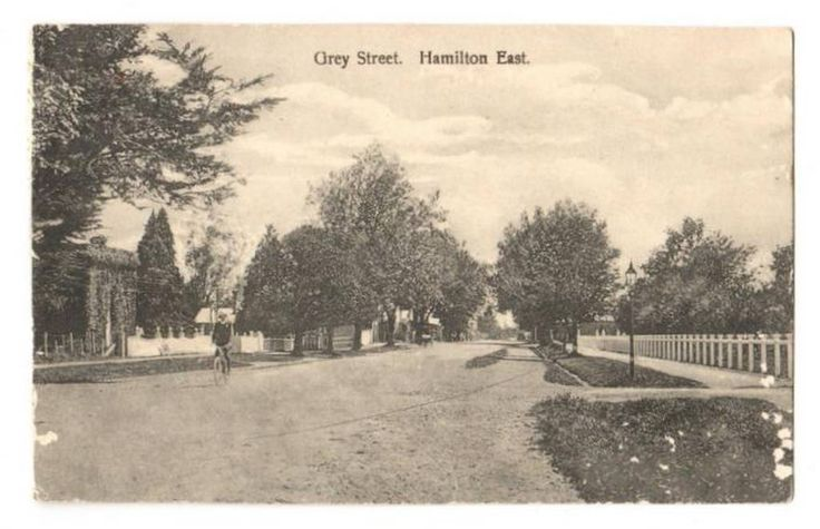 Postcard of Grey Street Hamilton East. Silverfish damage. - 45676 - Postcard - Postcards Waikato - Postcards New Zealand - Postcards By Country - EASTAMPS