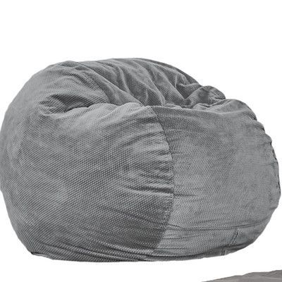 Bean Bag Chair Color: Charcoal, Size: Full Sleeper - http://delanico.com/bean-bag-chairs/bean-bag-chair-color-charcoal-size-full-sleeper-652607811/