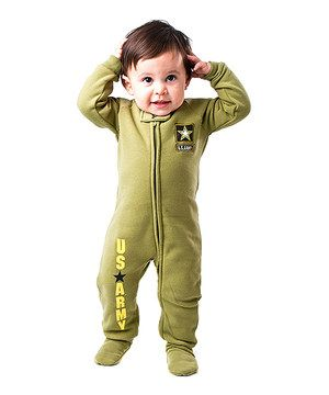 Footed Pajamas Green U S Army Footie Infant