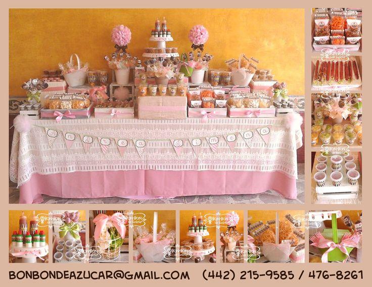 Barra de dulces snacks y fruta para primera comuni n - Ideas para mesas dulces de comunion ...