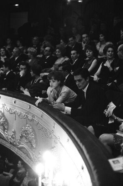 Alain Delon, Romy Schneider.