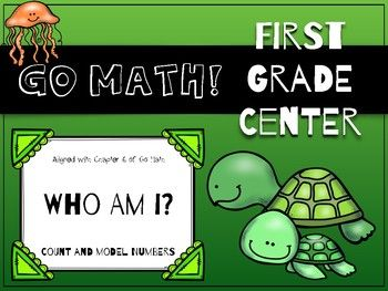 Go Math! First Grade Chapter 6 Center: Who Am I? This game was specifically created to support Chapter 6 of the first grade Go Math! curriculum, but it can be used by anyone to reinforce place value skills!