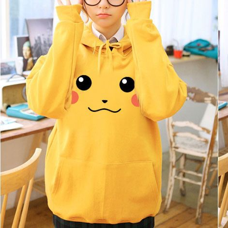 Japanese Kawaii Pikachu Long-Sleeve Sweater