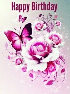 Pin By Diana On Birthday Greetings Pink Butterfly Birthday