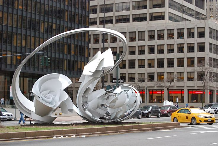 """NYC ♥ NYC: Alice Aycock's Sculptures, """"Park Avenue Paper Chase"""""""