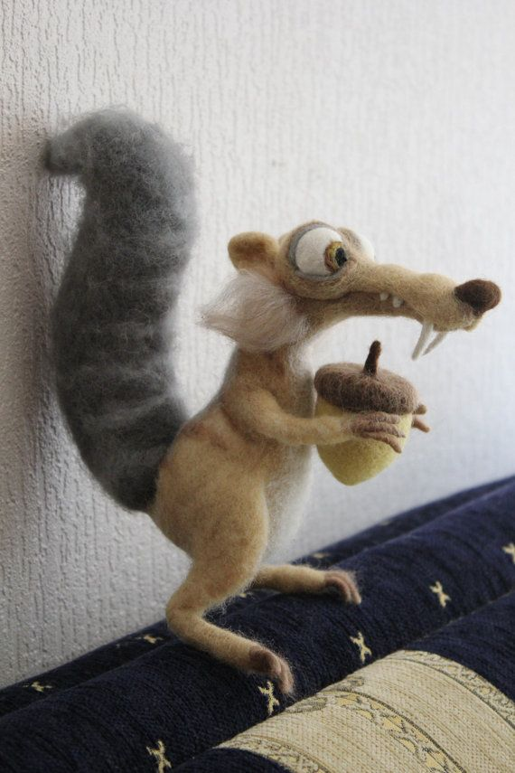 Ice Age SQUIRREL SCRAT needle felted