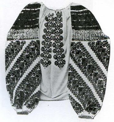 Illustration: Traditional Bucovina woman's embroidered blouse.