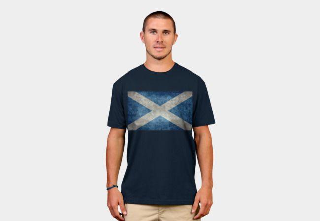 Flag of Scotland - vintage retro style T-Shirt - Design By Humans #scottish #scotland #Scottishflag #scottishflag