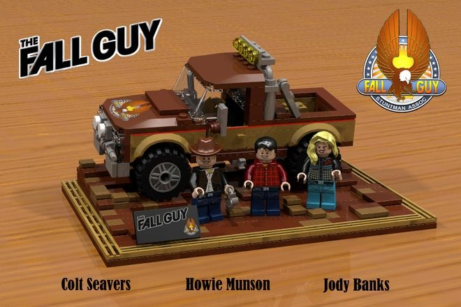 LEGO Ideas - The Fall Guy including the truck and a baseplate