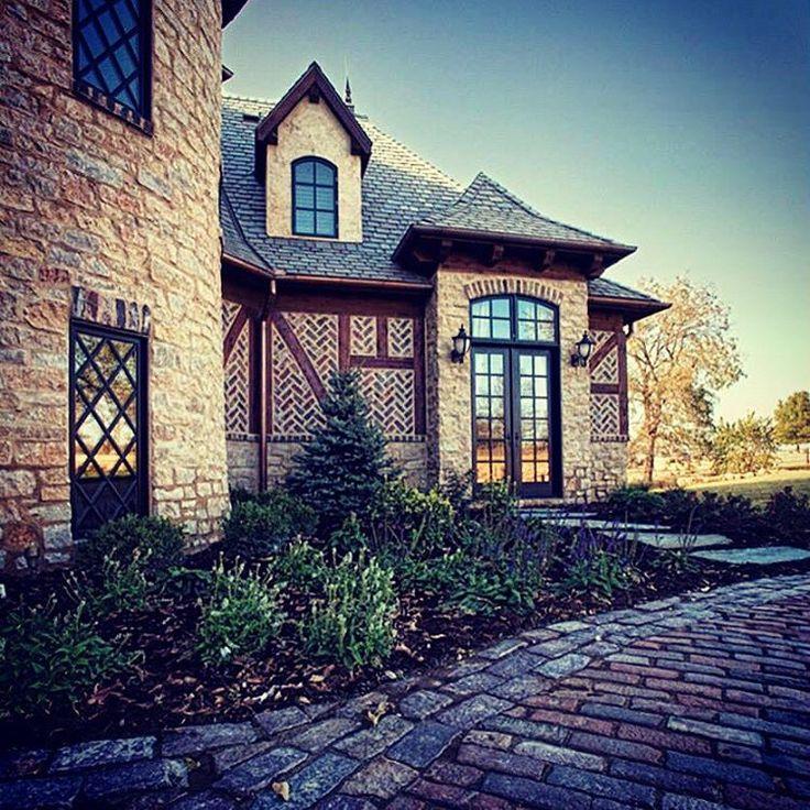 #WindowWednesday! What's not to like about a Tudor-style house with diamond pane windows, French doors and custom brickwork? :-) #windsorwindows #imaginewithwindsor
