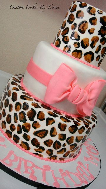 leopard print by Custom Cakes By Tracee, via Flickr