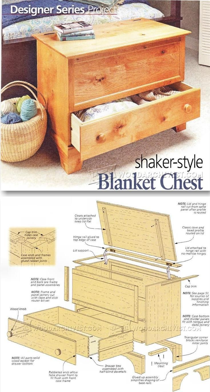 Blanket Chest Plan - Furniture Plans and Projects | WoodArchivist.com