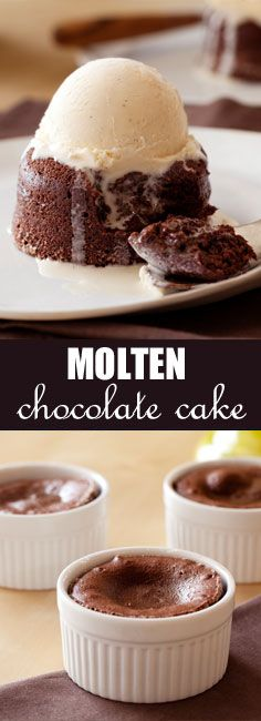 These warm and oozy molten chocolate cakes are sure to make you melt.
