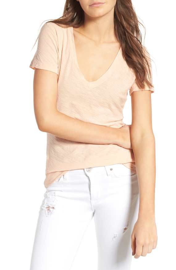 V-neck cotton tee by James Perse from Nordstrom (this is an affiliate link)