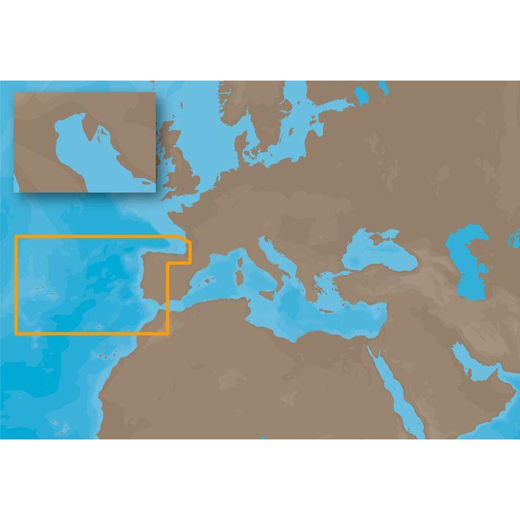 C-MAP NT+ EW-C204 - Iberian Peninsula Atl Acores Madeira - Furuno FP-Card