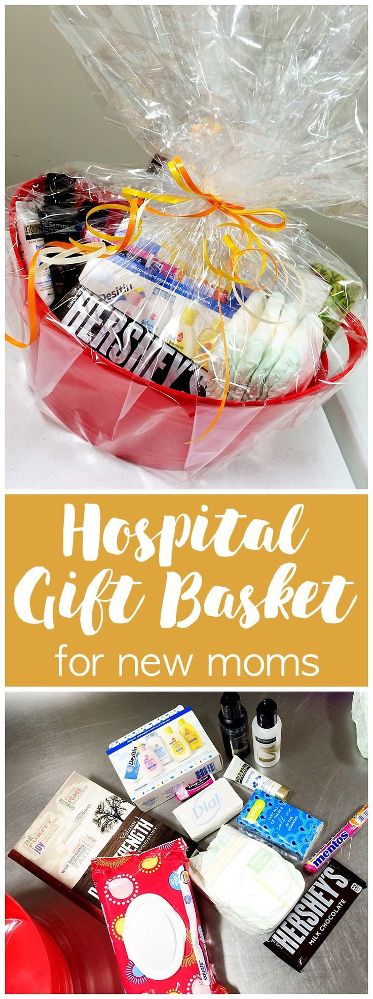 Hospital Gift Basket... for a new mom! - Six Clever Sisters