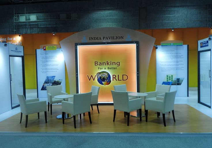 Custom Exhibition Stand for Indian Banking Association (India Pavilion). Contact us http://www.expodisplayservice.ae/contactus.asp