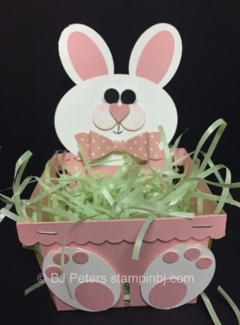 Berry Basket, Easter, 3D, Bunny