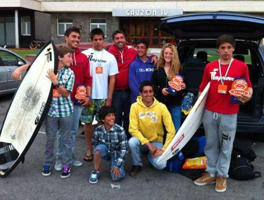 BUENOS RESULTADOS CÁNTABROS EN EL DÍA DEL SURF SOLIDARIO (ASTURIAS)