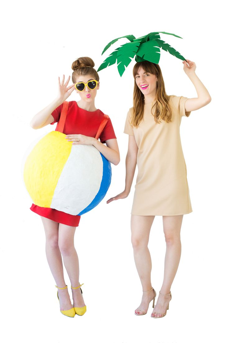 I really hope one of you has a big group of friends that's into a tropical themed Halloween, because we've got a pineapple, a tropical drink, pool floats and now a palm tree costume AND beach ball costume! The palm tree is perfect if you're looking for a quick accessory to turn a dress into…