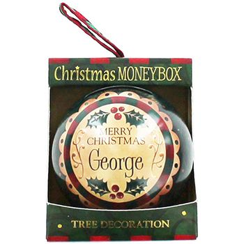 Personalised Money Box Bauble - George | Money Boxes at The Works