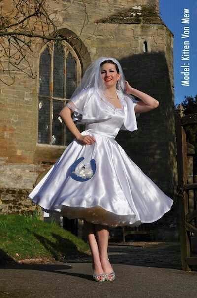 Short wedding dress and petticoat | Petticoats, Polka Dots ...