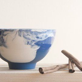 Marble Blue Bowl from Studio ONEandMANY