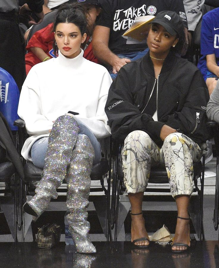 Shop the Designer Boots Celebrities Love - Kendall Jenner's sparkly YSL boots