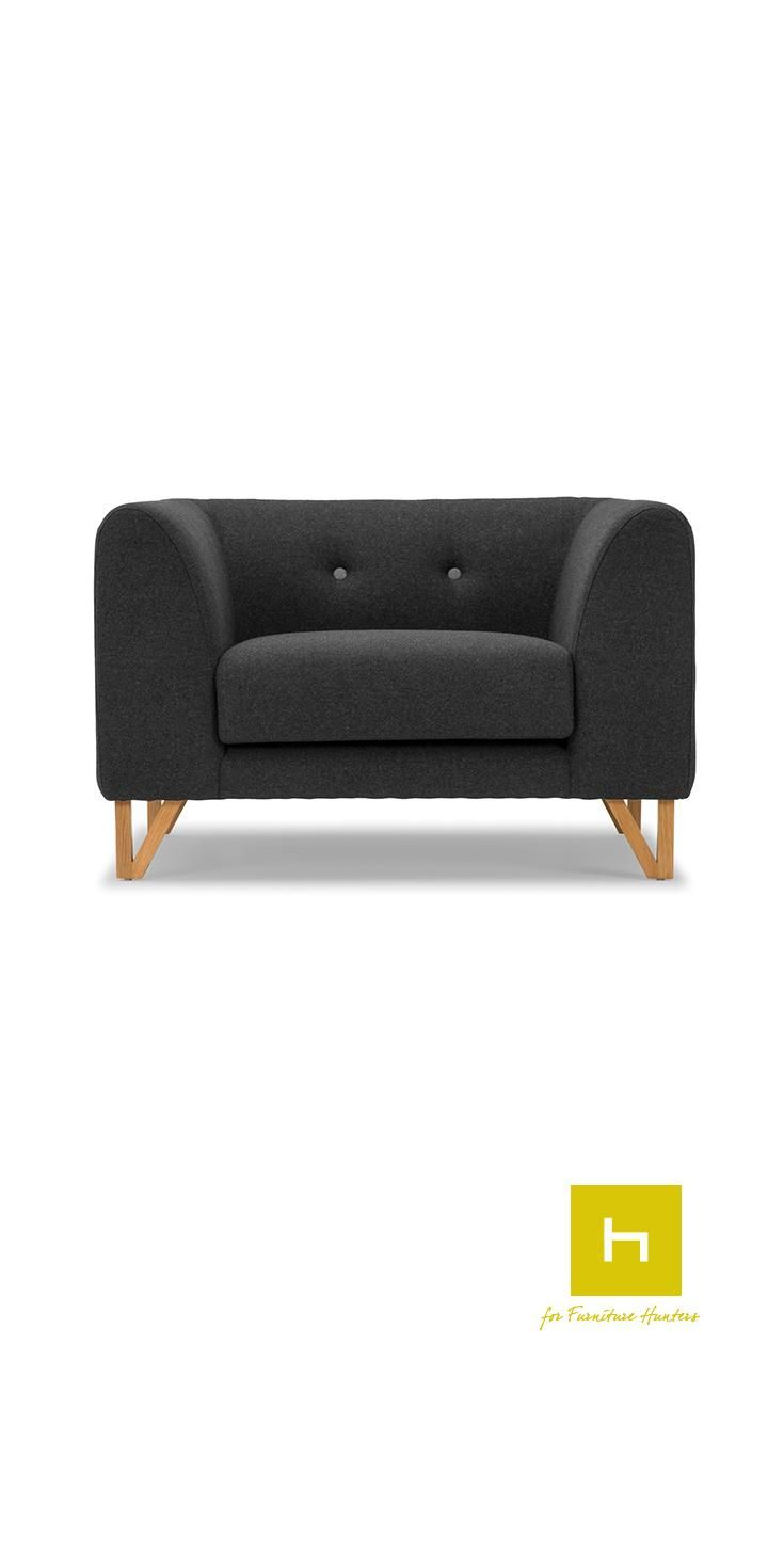 The Niko Lounge Chair from our Scandinavian Design collection will give your living space a comfortable yet stylish focal point. Beautifully curved arms and rounded cushions add designed comfort to this modern stylish piece. #scandinavian #design #armchair #furniturehunters