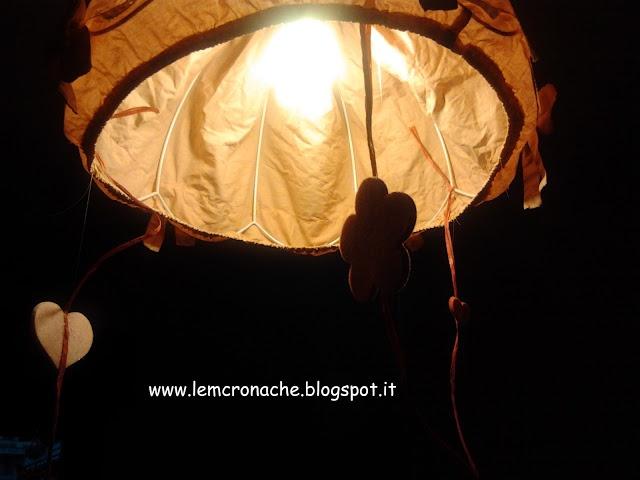 """Le """"M"""" Cronache: decorazioni pendenti per il lampadario della cameretta"""