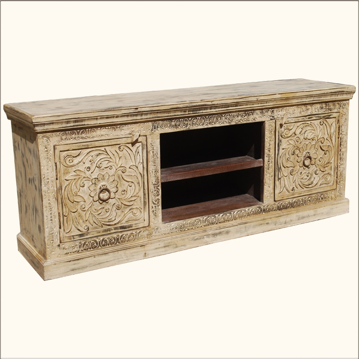 New media looks great on our Antique White Media Center.Old world artisans  use their skills and expertise to create this handmade long entertainment  cabi. - 37 Best Media Centers Images On Pinterest Cabinets, Consoles And