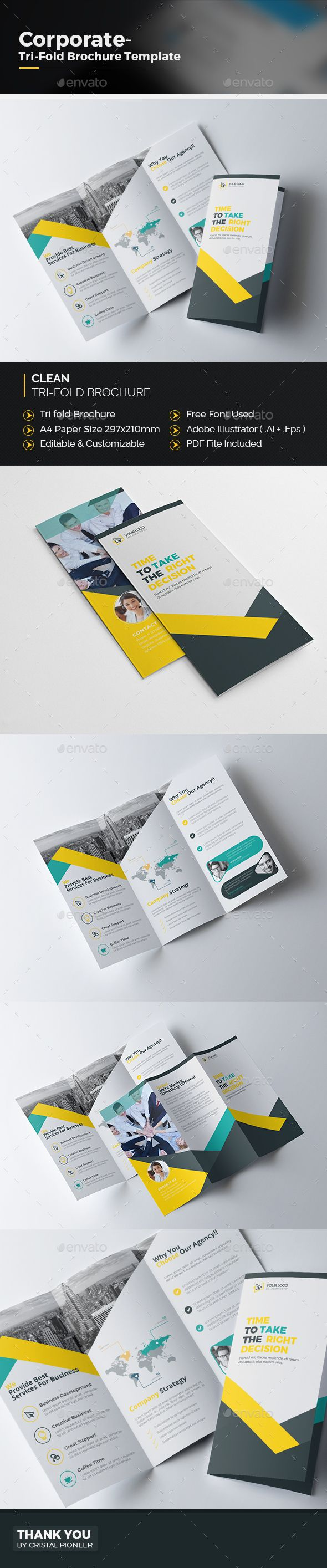 Tri fold Brochure Template Vector EPS, AI Illustrator. Download here: http://graphicriver.net/item/tri-fold-brochure-template/16651044?ref=ksioks
