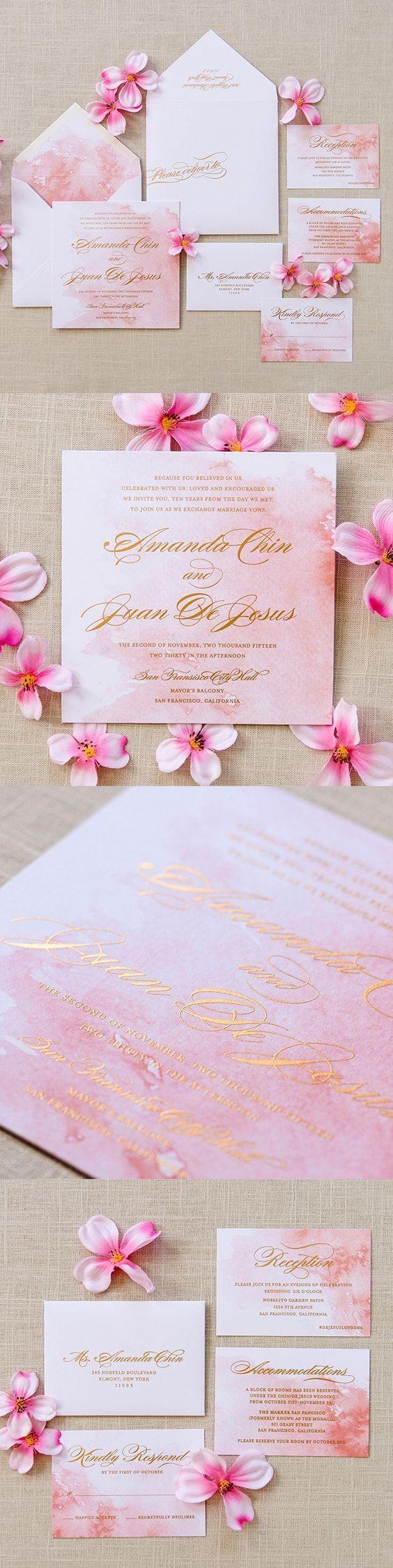 wedding invitations for less than dollar%0A Watercolor Wedding Invitation  Amanda Wedding Invitation