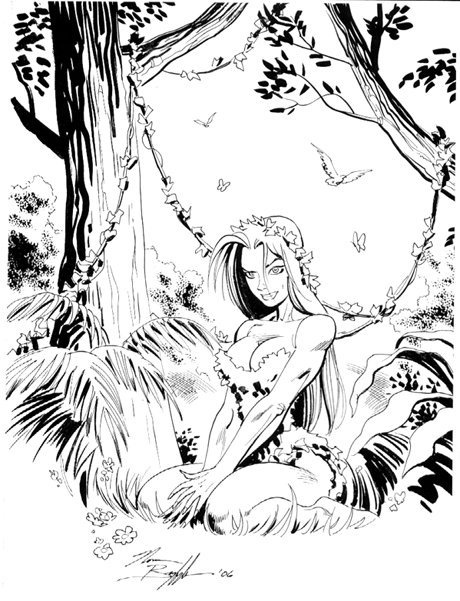 Great pic of Poison Ivy, by Norm Breyfogle