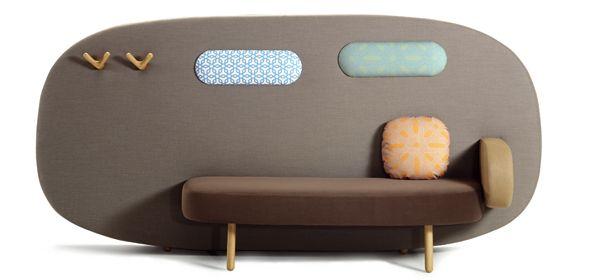 Float Sofa (Sancal) reminds me of a 1960 caravan