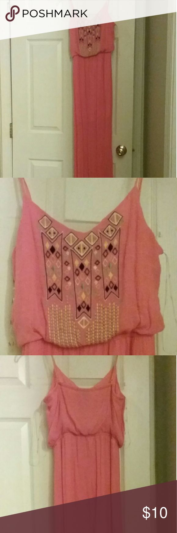 Cute Aztec maxi dress Coral, maxi dress Trixxi Dresses Maxi