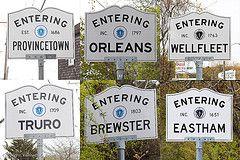 Cape Cod town signs by Ken Zirkel