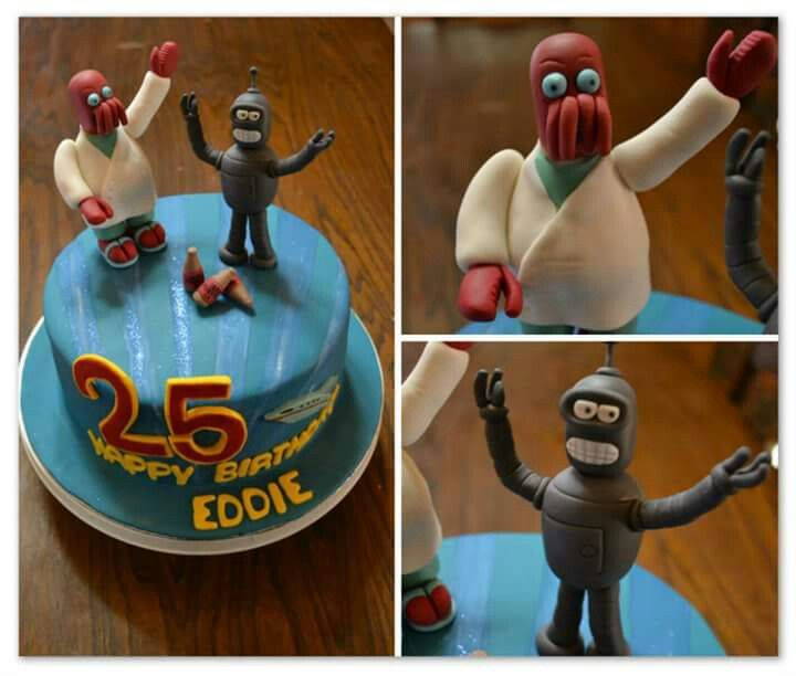 Futurama cake. Made by The Dotted Apron Bloemfontein. https://m.facebook.com/profile.php?id=703914623013978&refsrc=https%3A%2F%2Fwww.facebook.com%2Fpages%2FThe-Dotted-Apron%2F703914623013978