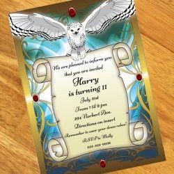 Wizard School Personalized Invitations