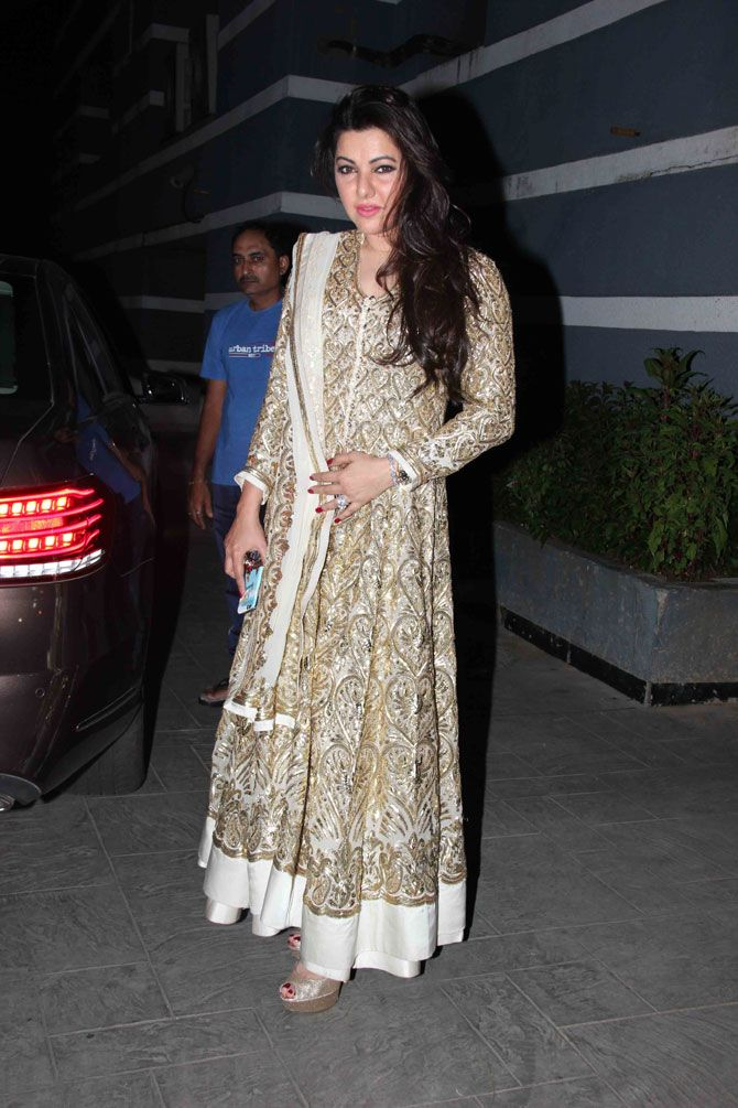 Kehkashan Patel at Sanjay Kapoor's birthday bash. #Bollywood #Fashion #Style #Beauty #Hot #Desi