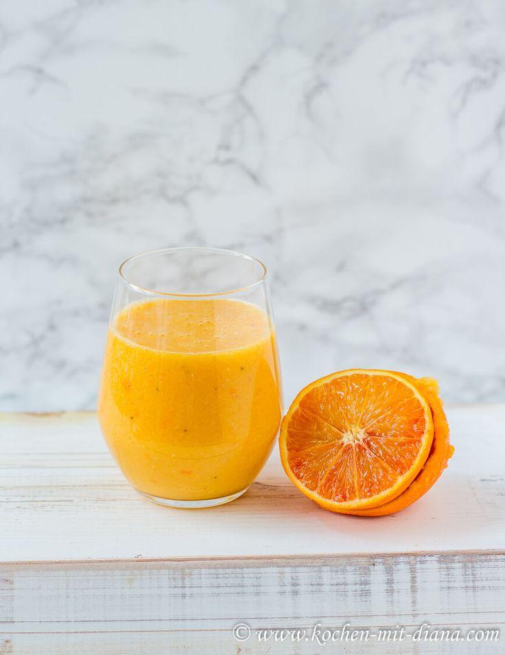 Orangen-Karotten-Bananen Smoothie