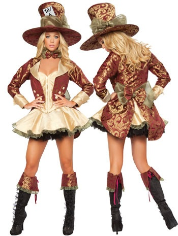Elaborate female Mad Hatter costume