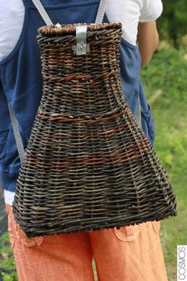 wicker backpack