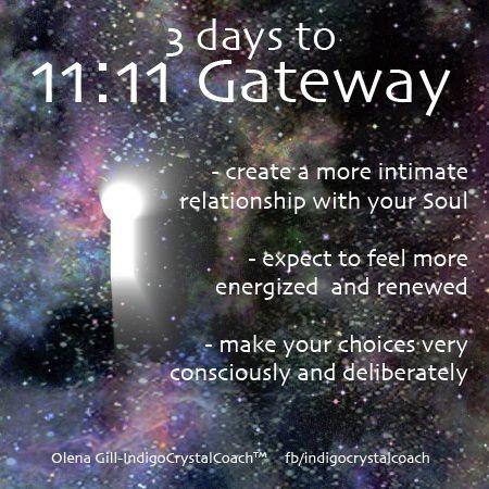 11:11 Portal of Light  3 days http://indigocrystalcoach.wordpress.com http://www.facebook.com/indigocrystalcoach