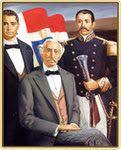 """Los Padres de la Patria: """"Nacimiento de la Patria Dominicana"""" La Bandera El Escudo Himno Nacional Primer Himno Dominicano; de Félix María del Monte"""