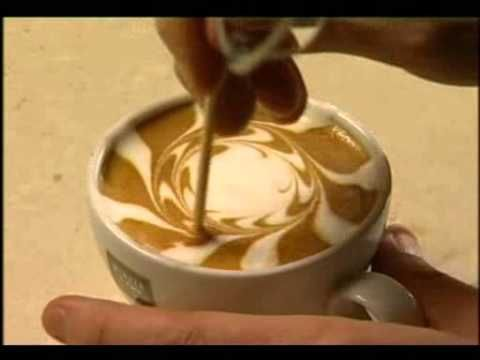 Latte' Art. This video shows you how to make art on top of your coffee or hot chocolate. Great idea for a party or special guests.