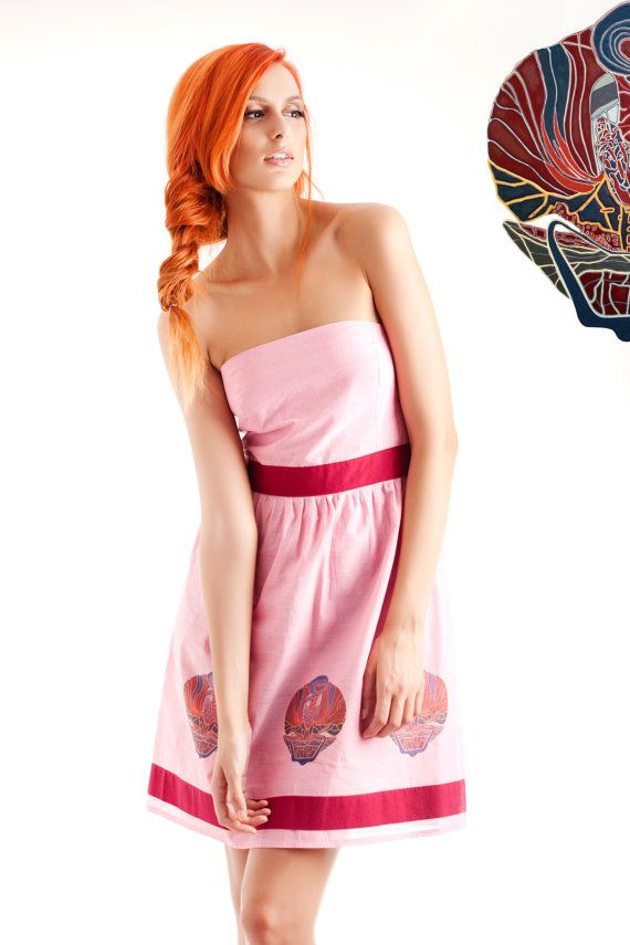 Alicein wonderlandlovely pink dress with water based by MuMusyros, $210.00