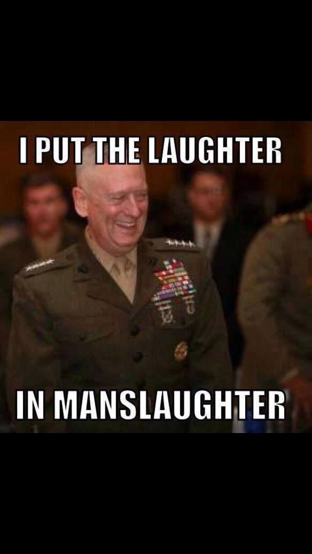 I put the laughter in MansLaughter! hahah!