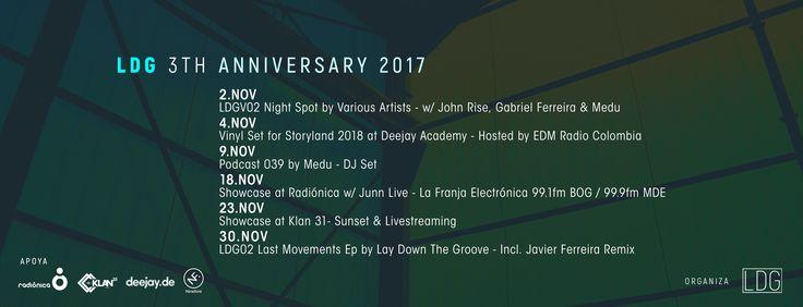 Portada/banner Diseño Aniversario Lay Down The Groove